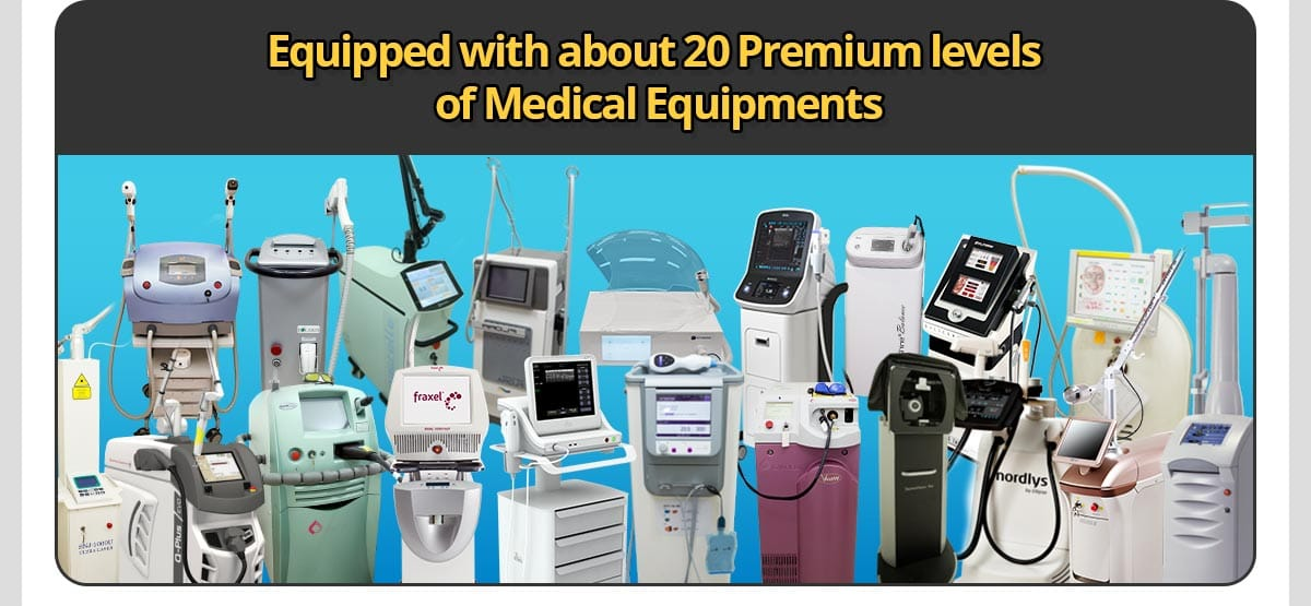 Equipped with about 20 Premium levels of Medical Equipments