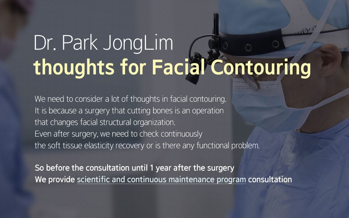 Dr. Park JongLim thoughts for Facial Contouring