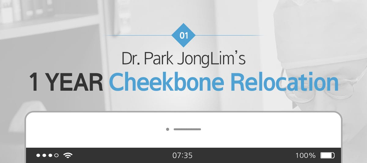 Dr. Park JongLim's 1 YEAR Cheekbone Relocation