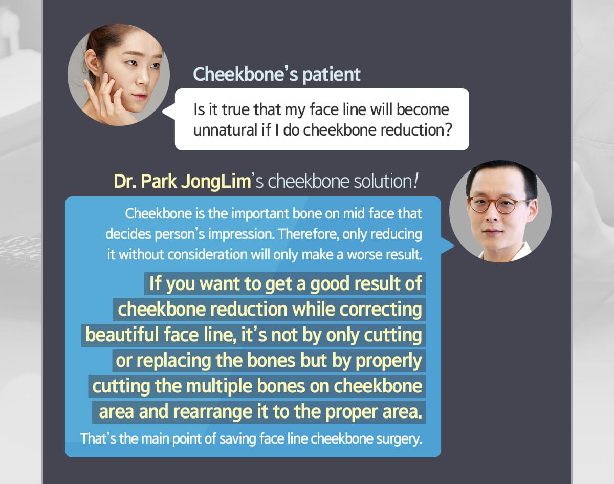 Dr.Park JongLim's 1 Year Cheekbone Relocation