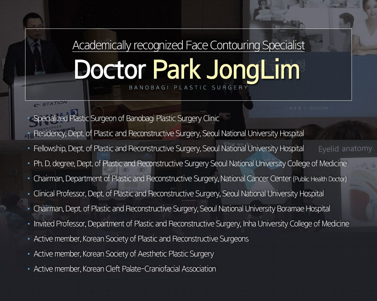 Academically recognized Face Contouring Specialist Doctor Park JongLim
