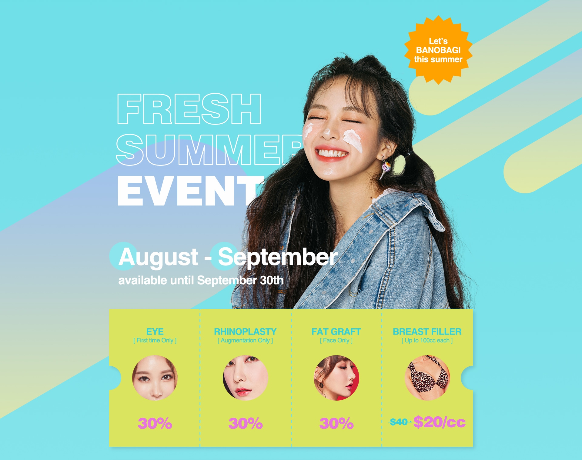 FRESH SUMMER EVENT August-September available until September 30th